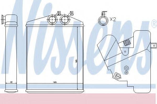 Теплообменник, отопление салона NISSENS 73377