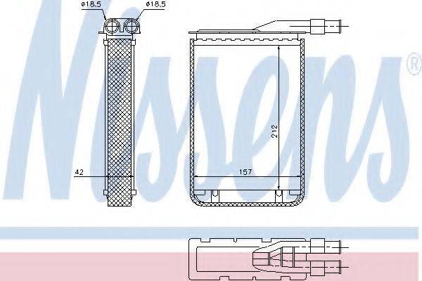 Теплообменник, отопление салона NISSENS 733591