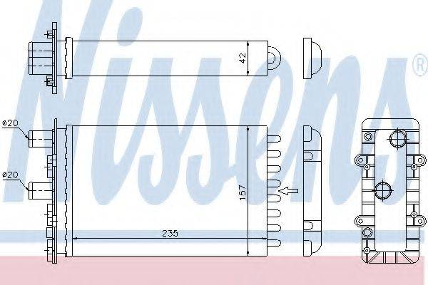 Теплообменник, отопление салона NISSENS 73974
