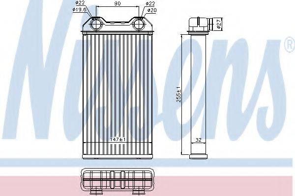 Теплообменник, отопление салона NISSENS 73331