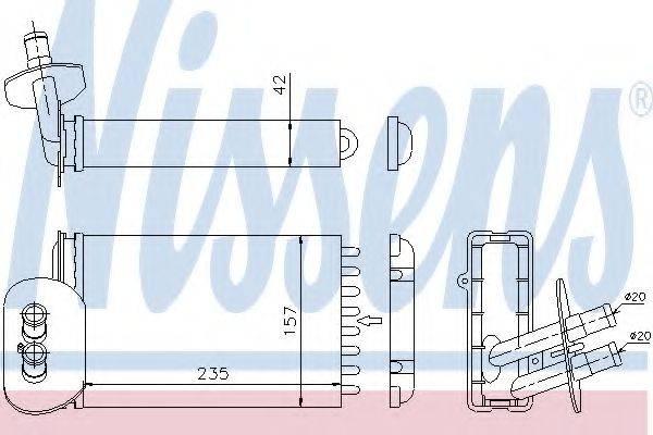 Теплообменник, отопление салона NISSENS 73977