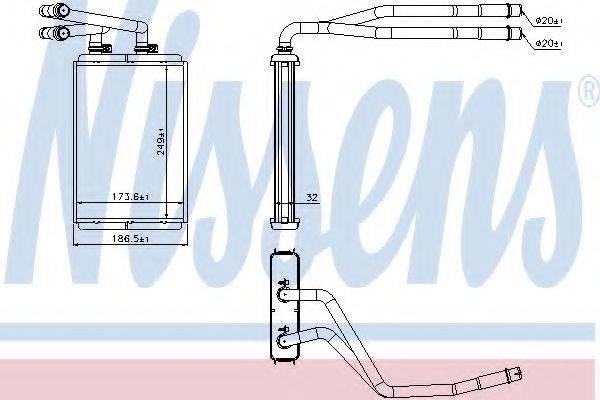 Теплообменник, отопление салона NISSENS 73990