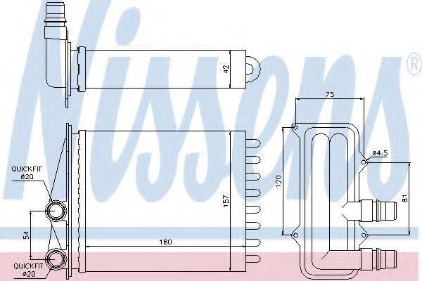Теплообменник, отопление салона NISSENS 73468