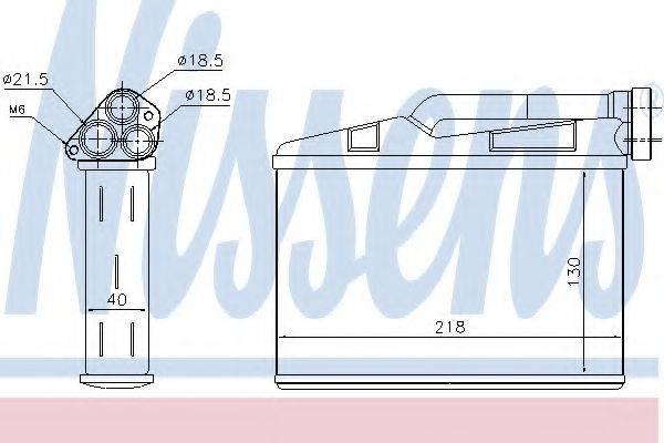 NISSENS 70530 Теплообменник, отопление салона