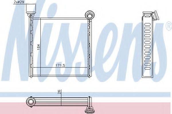 Теплообменник, отопление салона NISSENS 73980