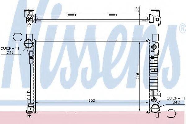 Радиатор, охлаждение двигателя NISSENS 62786A