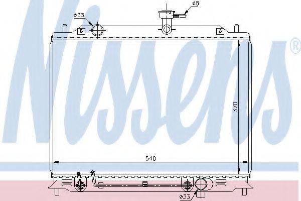 NISSENS 67504 Радиатор, охлаждение двигателя