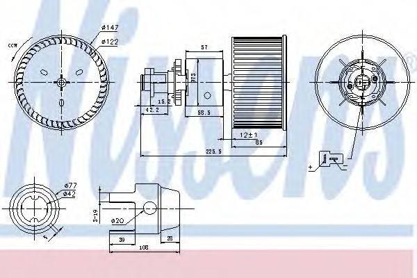 NISSENS 87149 Вентилятор салона