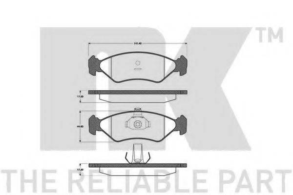 NK 222535 Комплект тормозных колодок, дисковый тормоз