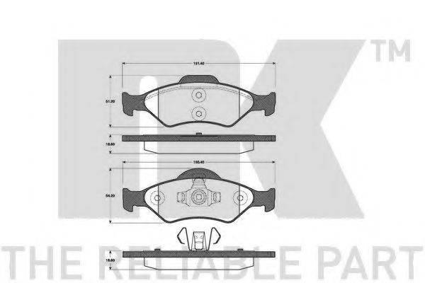 NK 222556 Комплект тормозных колодок, дисковый тормоз