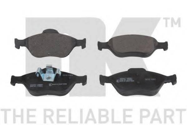 NK 222557 Комплект тормозных колодок, дисковый тормоз