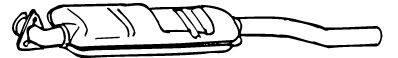 WALKER 16894 Средний глушитель выхлопных газов