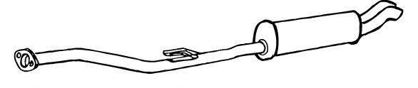 WALKER 17527 Глушитель выхлопных газов конечный