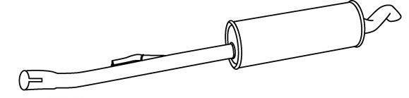 WALKER 18921 Глушитель выхлопных газов конечный