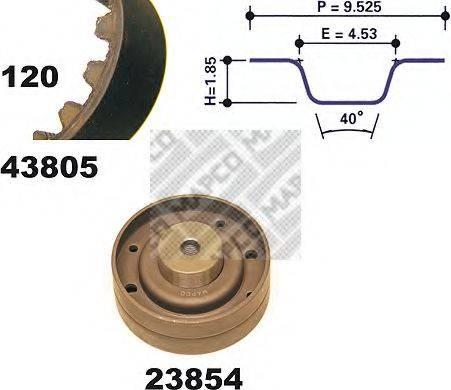 MAPCO 23805 Комплект ремня ГРМ