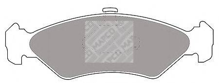 MAPCO 61881 Комплект тормозных колодок, дисковый тормоз