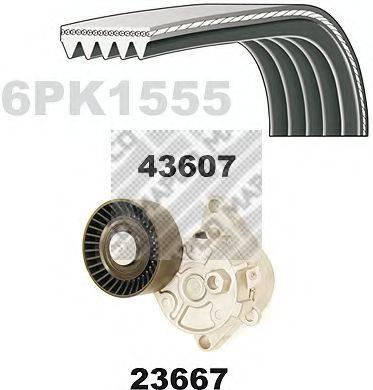 MAPCO 23609 Поликлиновой ременный комплект