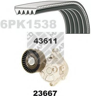MAPCO 23611 Поликлиновой ременный комплект