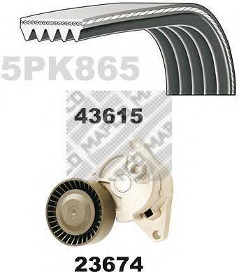 MAPCO 23615 Поликлиновой ременный комплект