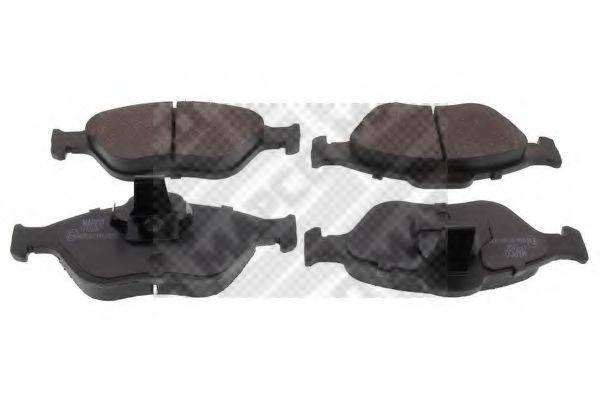 MAPCO 6672 Комплект тормозных колодок, дисковый тормоз