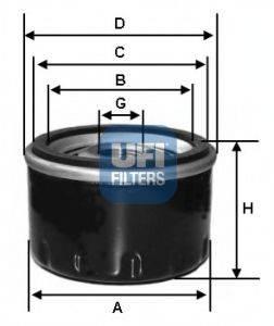 UFI 2312705 Масляный фильтр