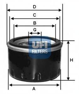 UFI 2329800 Масляный фильтр