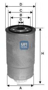 UFI 2435100 Топливный фильтр