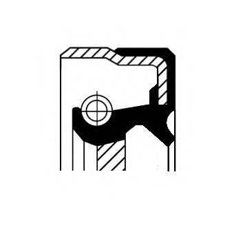 Уплотняющее кольцо, коленчатый вал; Уплотняющее кольцо, ступенчатая коробка передач CORTECO 12011305B