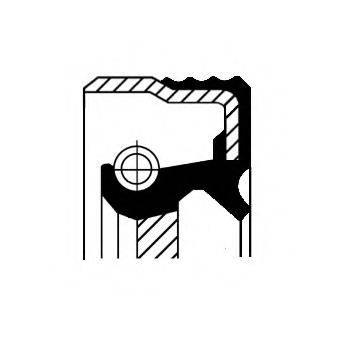 Уплотняющее кольцо, коленчатый вал CORTECO 12012247B
