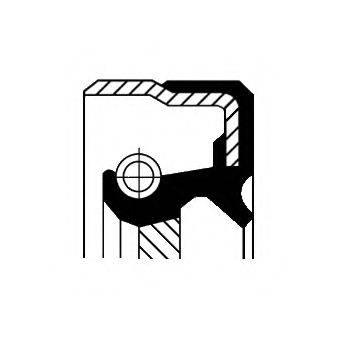 Уплотняющее кольцо, коленчатый вал CORTECO 12001482B