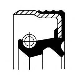 Уплотняющее кольцо, дифференциал; Уплотняющее кольцо, ступица колеса CORTECO 12012049B