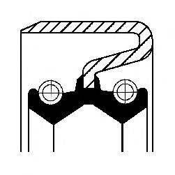 Уплотняющее кольцо, дифференциал CORTECO 12011383B