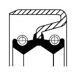 Уплотняющее кольцо, ступенчатая коробка передач CORTECO 12012282B