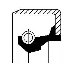 Уплотняющее кольцо, дифференциал; Уплотняющее кольцо, ступица колеса CORTECO 12011494B