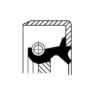 Уплотняющее кольцо, ступенчатая коробка передач CORTECO 12011454B