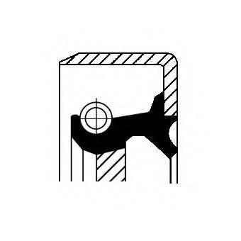 Уплотняющее кольцо, дифференциал CORTECO 12012074B