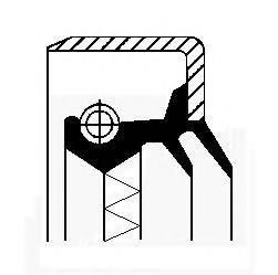 Уплотняющее кольцо, ступица колеса CORTECO 12011324B