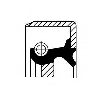 Уплотняющее кольцо, коленчатый вал CORTECO 12012095B