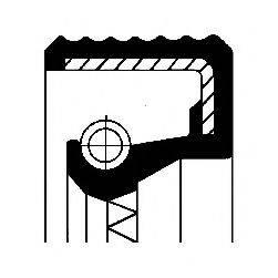 Уплотняющее кольцо, ступица колеса CORTECO 12011073B