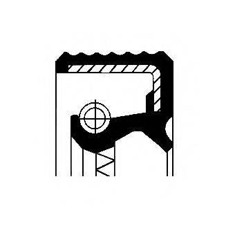 Уплотняющее кольцо, ступенчатая коробка передач; Уплотняющее кольцо, дифференциал; Уплотняющее кольцо, раздаточная коробка CORTECO 12010684B