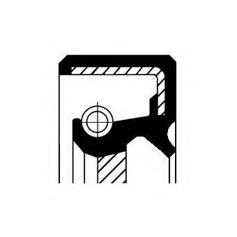 Уплотняющее кольцо, коленчатый вал; Уплотняющее кольцо, ступенчатая коробка передач CORTECO 12001197B