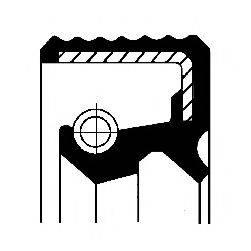 Уплотняющее кольцо, ступица колеса CORTECO 12012008B