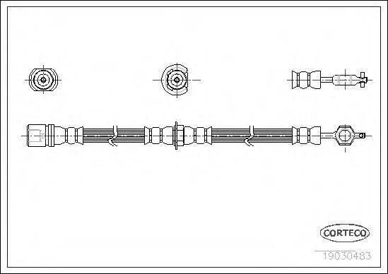 CORTECO 19030483 Тормозной шланг