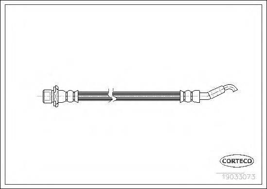 CORTECO 19033073 Тормозной шланг