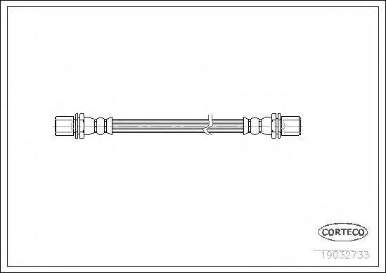 CORTECO 19032733 Тормозной шланг