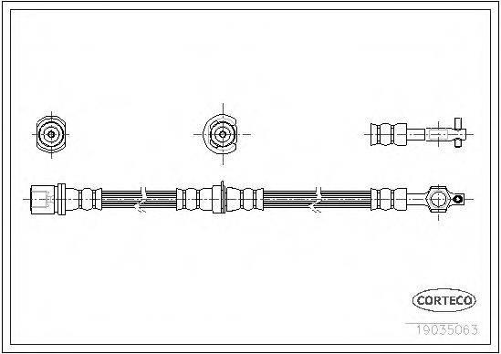 CORTECO 19035063 Тормозной шланг