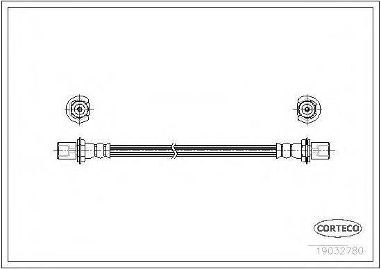 CORTECO 19032780 Тормозной шланг