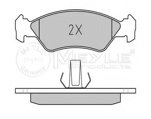 MEYLE 0252310217 Комплект тормозных колодок, дисковый тормоз