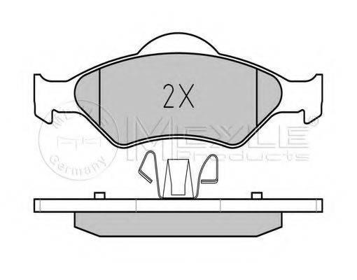 MEYLE 0252320018PD Комплект тормозных колодок, дисковый тормоз