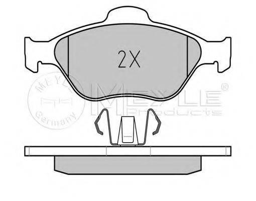 MEYLE 0252360418PD Комплект тормозных колодок, дисковый тормоз